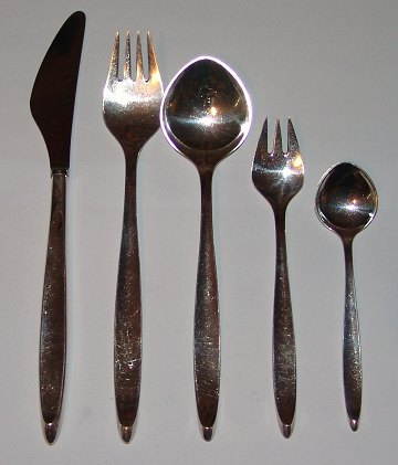 Cohr Mimosa Sterling Silver Flatware Set for 10 persons