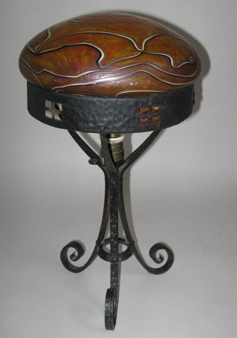 Art Nouveau table lamp, c. 1900