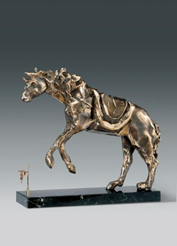 "Salvador Dali ""Horse Saddled with Time"" 1980 First cast: 1980 nr. 298/350 Bronze"