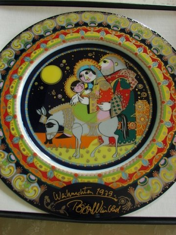 Bjørn Wiienblad - Christmas plate 1979 - in original box