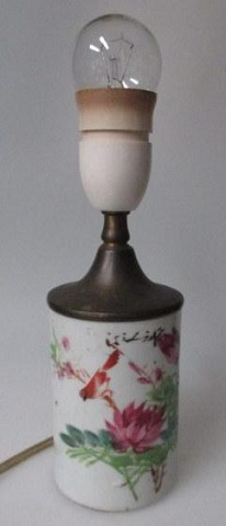 Chinese brush cup in porcelain, 19th century.