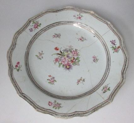 East Indian plate, 18th century. China.