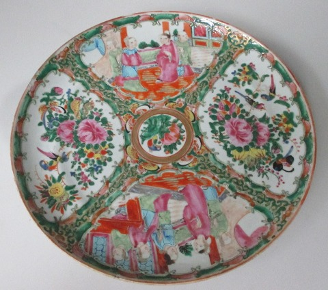 Famille Rose Canton plate, China, 19th century.
