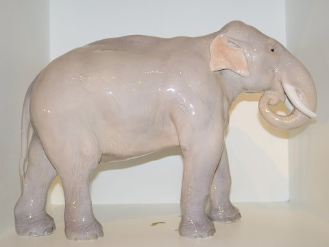 Rare Royal Copenhagen figurine Very large elephant from 1898-1923