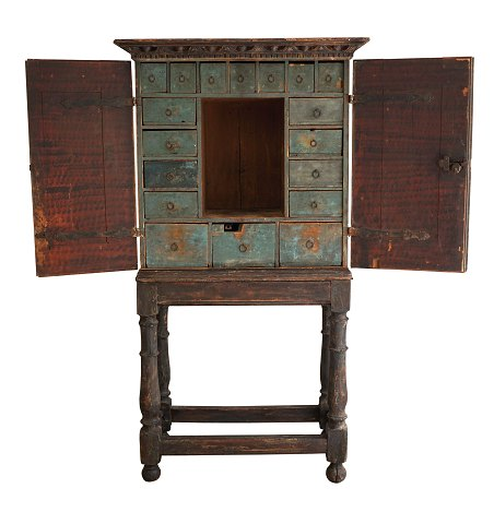 Cabinet with 18 drawers, baroque