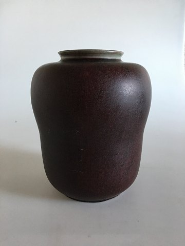 Royal Copenhagen Oxblood Bordeaux Vase by Carl Hallier
