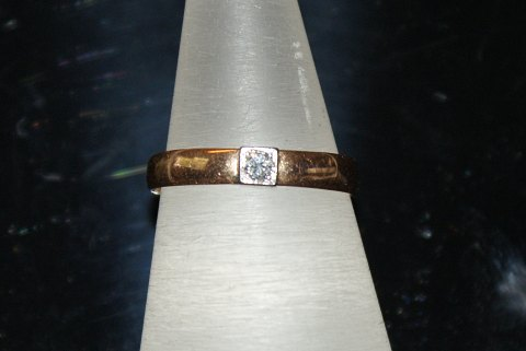 Gold ring with Brillant 14 Carat