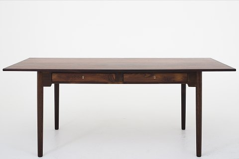 Attributed Hans J. Wegner / Fritz Hansen Desk in rosewood with two drawers 1 pc. in stock Renovated Shown in KLASSIK Flagship Store - Bredgade 3, 1260 KBH. K.