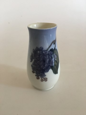 Bing & Grondahl Vase No. 69/86/212 with Purple Lilac Decoration