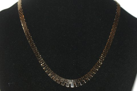 Brick Necklace with 5 rows, 14 karat gold