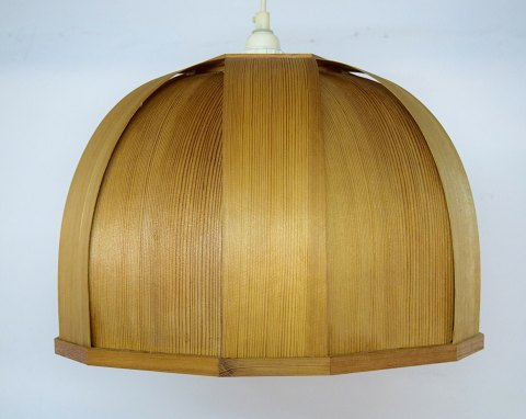 "Hans Agne Jakobsson, ""ellysett"" ceiling lamp of wood. 1960 / 70s."