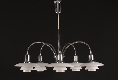Poul Henningsen Chandelier with 5 arms Anniversary model Louis Poulsen