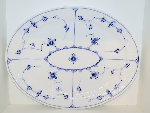 Blue Fluted Plain Extra flat, large platter 44 cm.