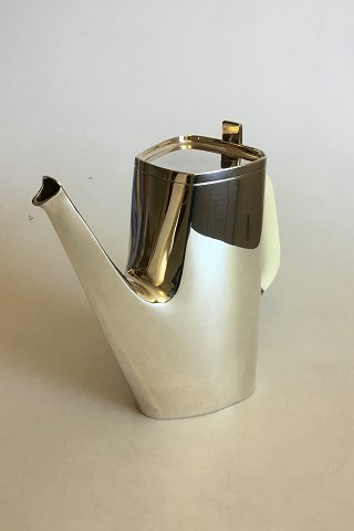 Cohr Sterling Silver Coffee Pot with Handle of Bone