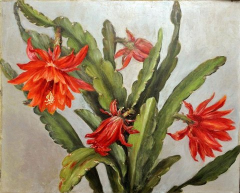 Danish artist (19th century) A christmas cactus.