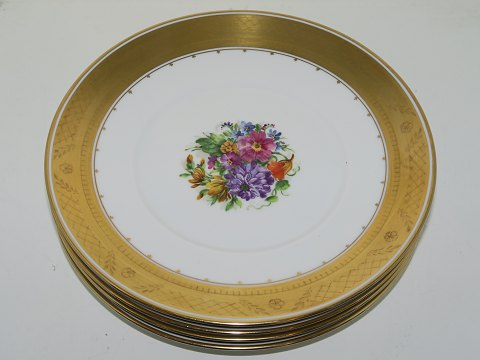 Gold Basket Plate with flower decoration