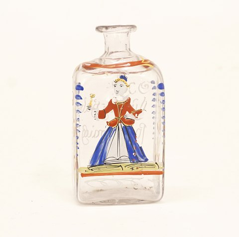 A small German 18th century bottle. H: 14cm