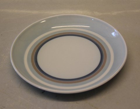 Sahara B&G White base, brown and blue lines 306 Cake plate 16 cm (28 a)