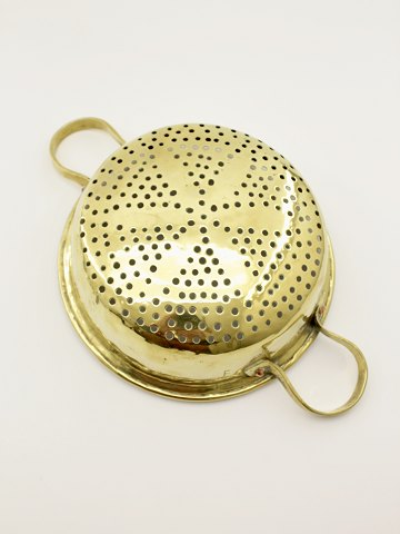 Danish stamped brass strainer