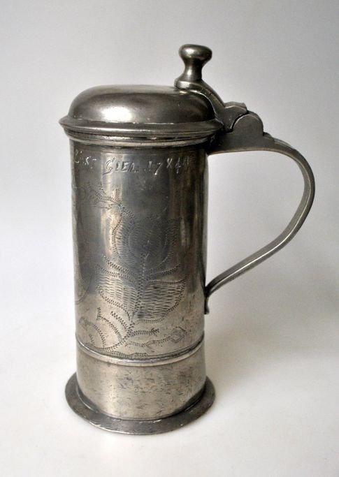 Drinking pot, 1784, in pewter, Germany