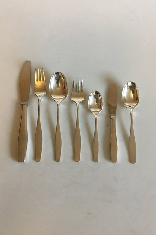 Hans Hansen Sterling Silver Charlotte Flatware set for 8 persons, 56 pieces