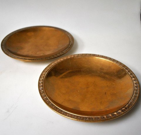 Pair Just Andersen bronze bowls, B 4, 20th century. Denmark