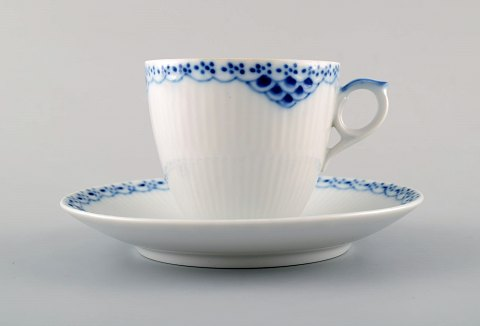 "Royal Copenhagen ""Princess"" coffee cup with saucer. 10 sets."