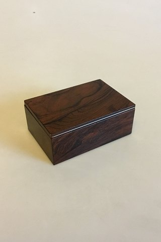 Klitgaard Box of Rosewood with loose Lid and Silver inlay