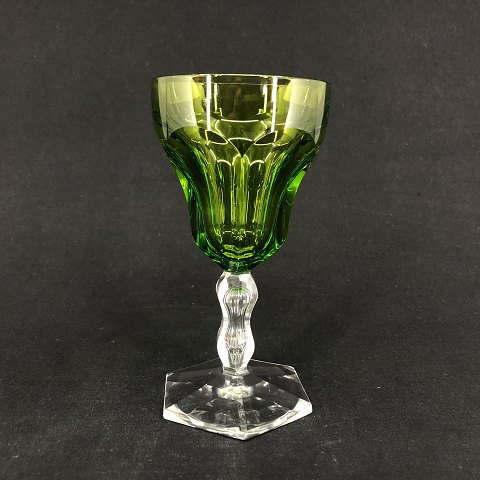 Green Lalaing white wine glass