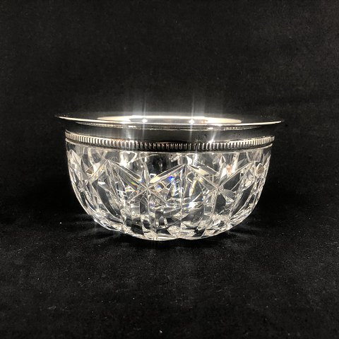 Crystal bowl with silver edge from 1933
