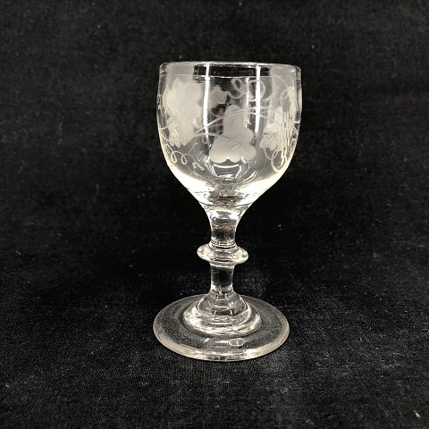 German wine leave glass from 1890's