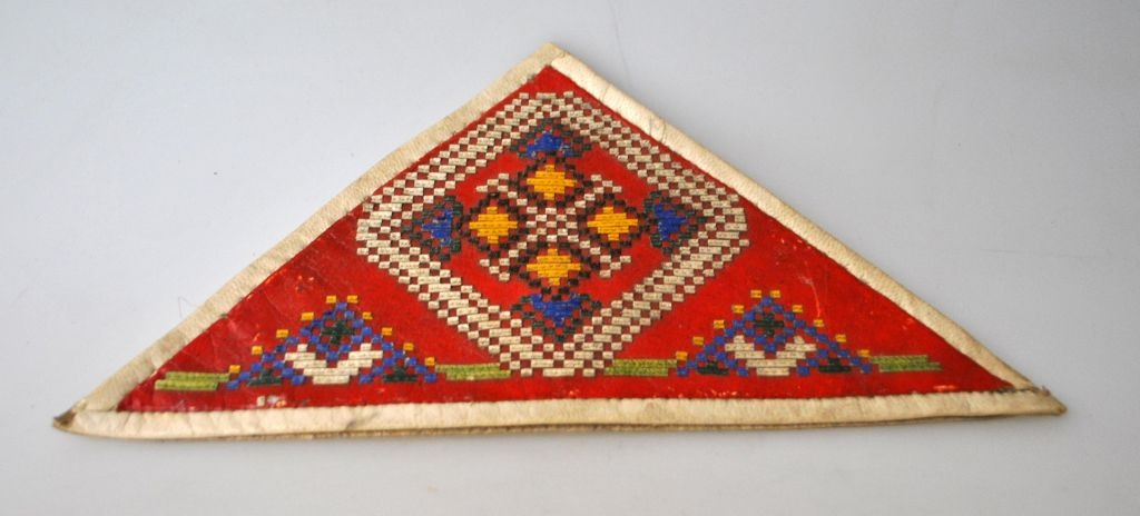Greenlandic embroidered paper / napkin holders in sealskin, 20th century.