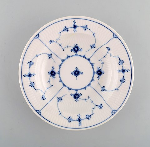 Antique Royal Copenhagen Blue Fluted deep plate. 1820-1840.
