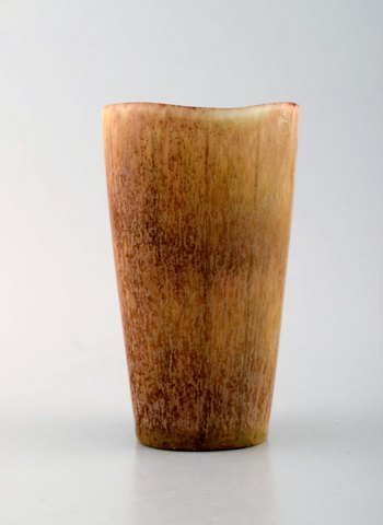 Rørstrand / Rorstrand stoneware vase by Gunnar Nylund. Beautiful glaze in bright earth shades. 1960's.