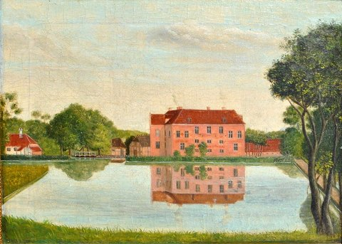 Danish artist (19th century): Prospect of Villestrup, Astrup Sogn, Hindsted Herred