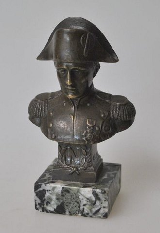 Napoleon bust of bronze, 19th century, France.
