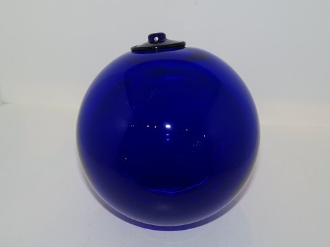 Holmegaard Blue glass ball from 19650-1970