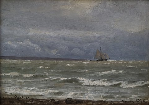 Carl Locher; An oil painting, Havre, 1876