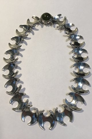 Georg Jensen Sterling Silver Necklace No 130B Mosagate
