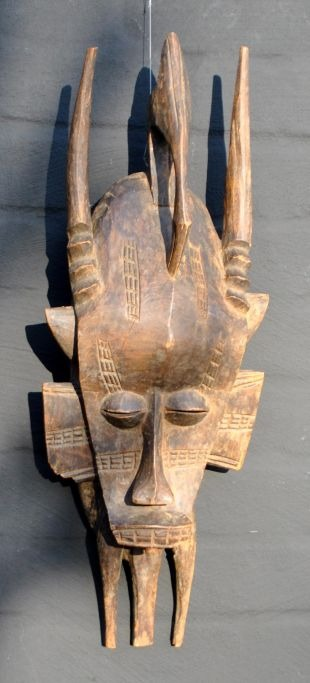 African wood mask, 20th century.