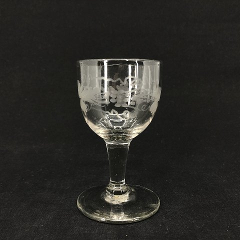 Holmegaard Glass no. 1 with wine leave