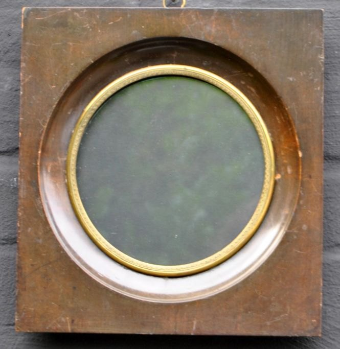 Antique wooden frame. Square. 19th century
