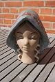 Lladro ceramics & stoneware. Beautiful woman face with bonnet