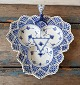 Royal Copenhagen Blue Flutet full lace dish no. 1077