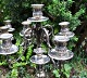 Pair of 5 armed candelabra, silver-plated, 20th century.